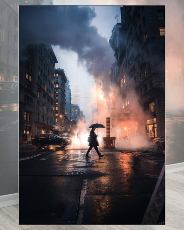 New York City Wall Decor Billy Dinh Oversized Wall Art Gigantic Big Biggest Massive Huge Large Largest Giant Enormous Home Decor NYC NY Street Cityscape City Mood portrait Art Instagram Artist Billydee