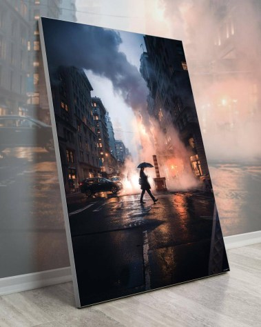 New York Wall Art Billy Dinh Oversized Wall Art Gigantic Big Biggest Massive Huge Large Largest Giant Enormous Home Decor NYC NY Street Cityscape City Mood portrait Art Instagram Artist Billydee