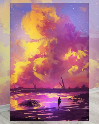 Oversized Wall Art Digital Painting Muhammad Nafay Oversized Wall Art Digital Painting Paint Art Decor Big Biggest Huge Large Massive Largest Giant Gigantic Wall Décor Art Backlit Fabric Home Deco Artwork Artist Surreal Digital Mystic Futuristic Instagram Color Colorful