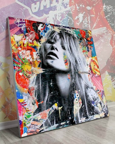 Oversized Wall Art Kate Moss Pop Art Celebrity Gigantic Big Biggest Massive Huge Large Largest Giant Wall Décor Art Backlit Fabric Home Deco Artwork Michiel Folkers