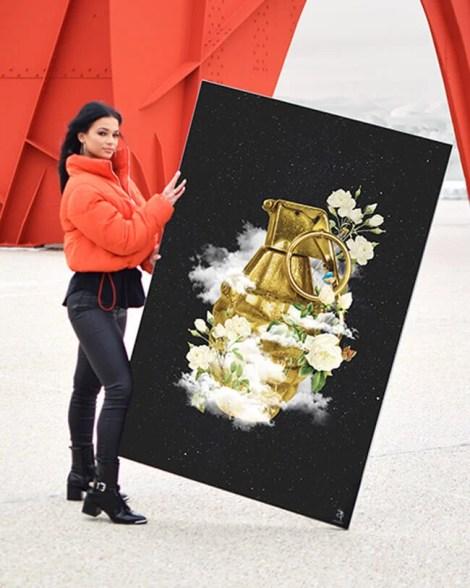 Big Grenade Wall Art Huge Decor Prints