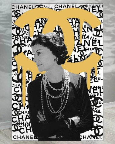 Oversized Coco Chanel Fashion Designer Pop Art Collage Wall Art