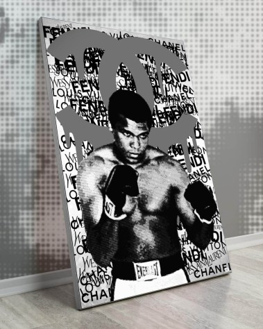 Large Muhammad Ali Boxing Champion Pop Art Collage Wall Art