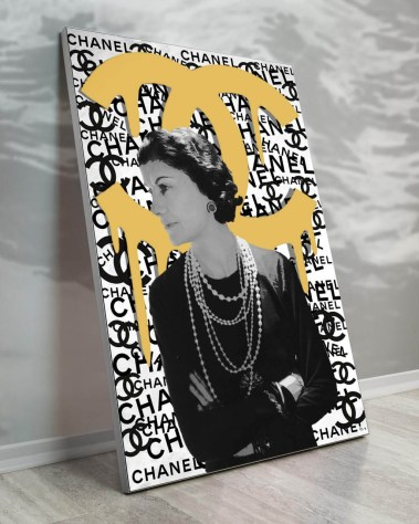 Large Coco Chanel Fashion Designer Pop Art Collage Wall Art