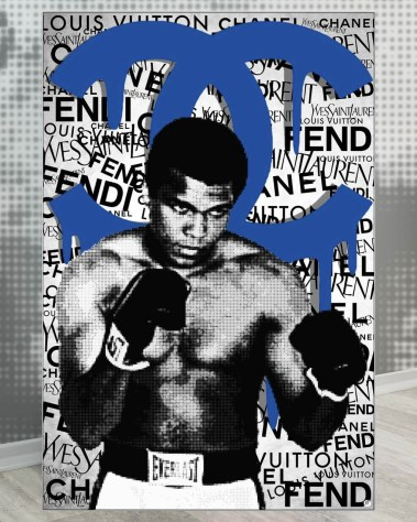 Oversized Muhammad Ali Boxing Champion Pop Art Collage Wall Art