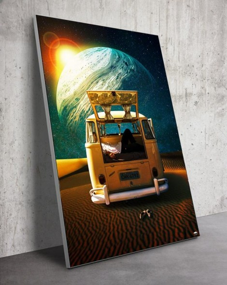 Large New Planet Space Van Wall Art Huge Decor Prints