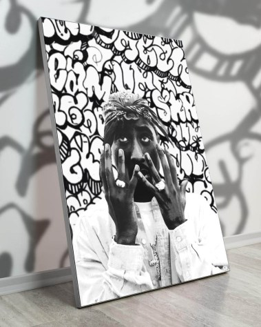 Big Tupac Rap Music Pop Art Collage Wall Art