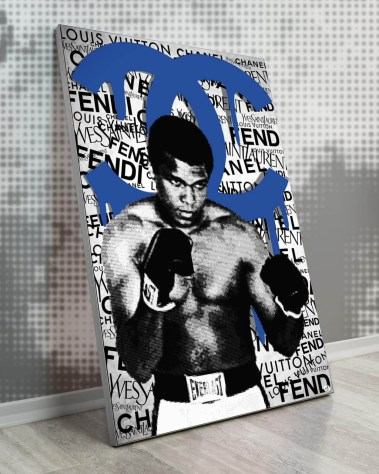 Big Muhammad Ali Boxing Champion Pop Art Collage Wall Art