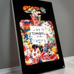 Large Chanel Perfume Fasion Brand Pop Art Collage Wall Art