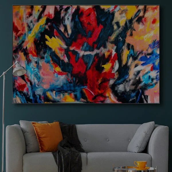 Large Colorful Abstract Wall Art Oversized Decor Prints