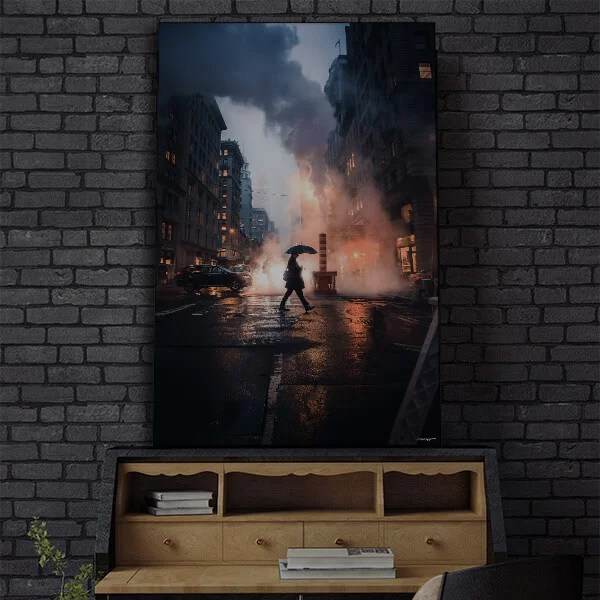 Large Urban Cityscape Street Wall Art Oversized Decor Prints