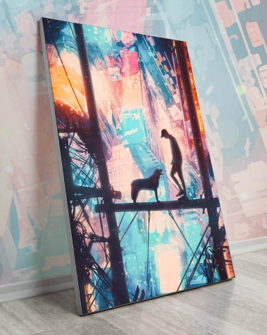 Oversized Digital Painting Colorful Surreal Wall Art