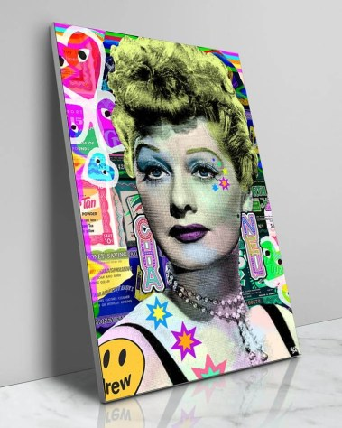 Large Colorful Pop Wall Decor Lucille Ball I love Lucy