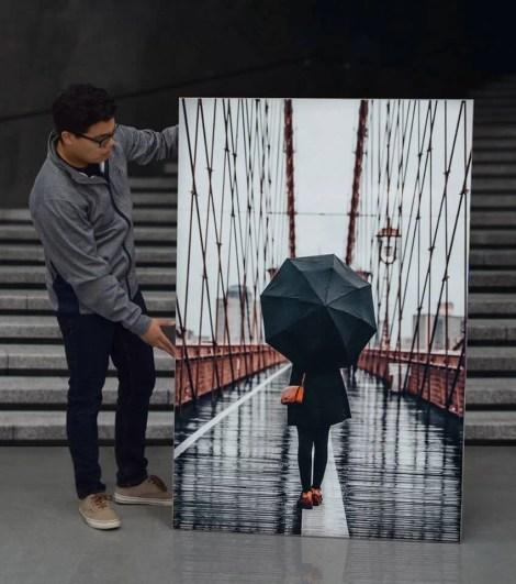 Giant Umbrella Brooklyn Bridge Wall Art Huge Decor Prints