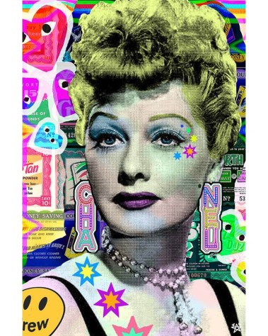 Big Colorful Pop Wall Decor Lucille Ball I love Lucy