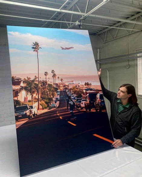 Huge Palm Tree Street Wall Art Huge Decor Prints