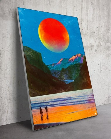 Huge Surreal Moon Planet Space Wall Art Huge Decor Prints