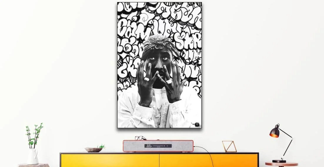 Large Tupac Wall Art