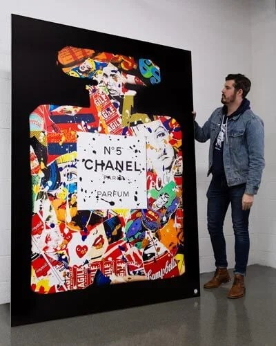 Massive Chanel Pop Wall Art