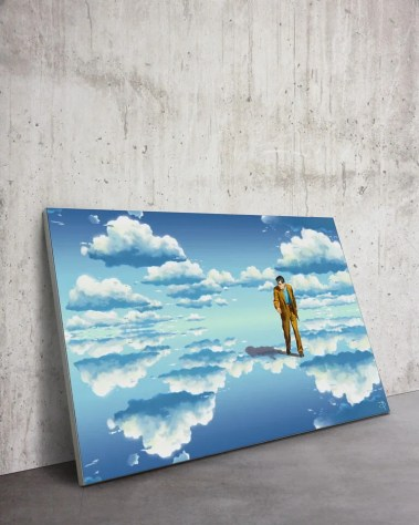 Large Head in the clouds Wall Art Massive