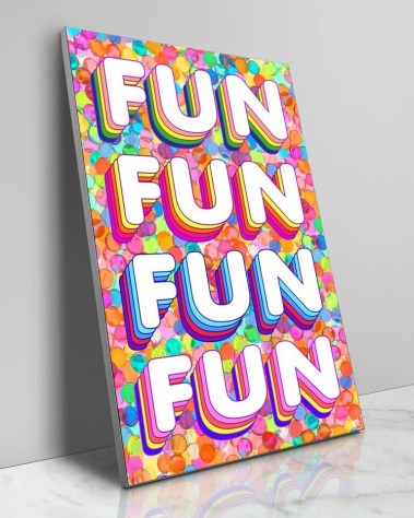Big Colorful Fun Confetti Pop Wall Art Decor
