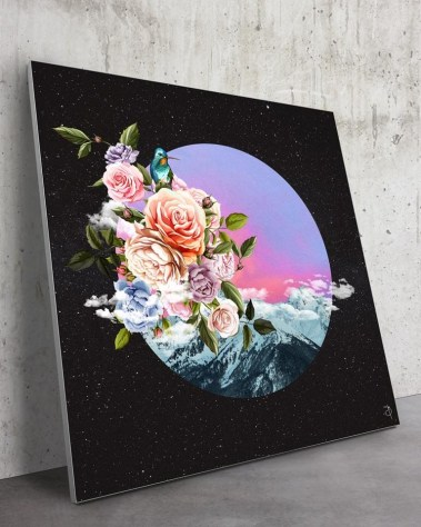 Huge Cosmic Flowers Wall Art Massive