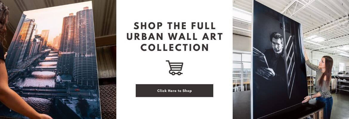Large Urban Wall Art Full Collection