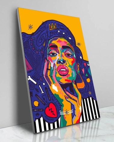 Large Winnie Harlow Pop Art Celebrity Fashion Model Popular Culture Painted Wall Decor