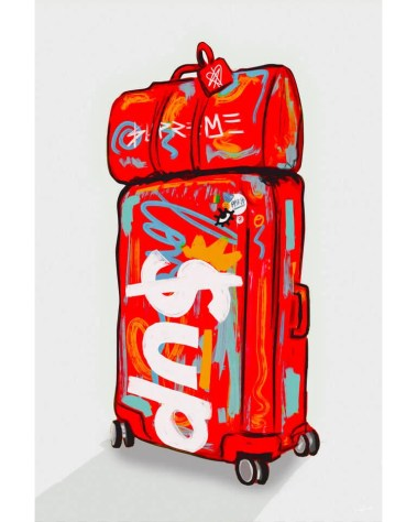 Large Supreme Brand Pop Art Grafitti Popular Culture Painted Wall Decor