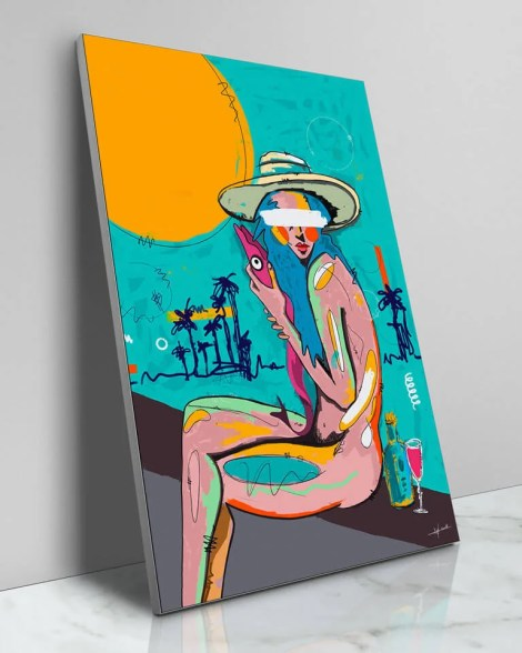 Large-Colorful-Painted-Beach-Style-Wall-Art-NuWarhol