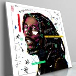 Large Bob Marley Pop Art Celebrity Popular Culture Painted Wall Decor
