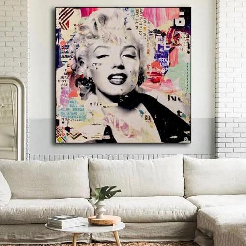 Pop Wall Art Oversized Marilyn Monroe Art
