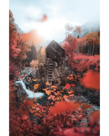 Big Crystal Mill Colorado Nature Wall Art Autumn Photography Ivan Wong