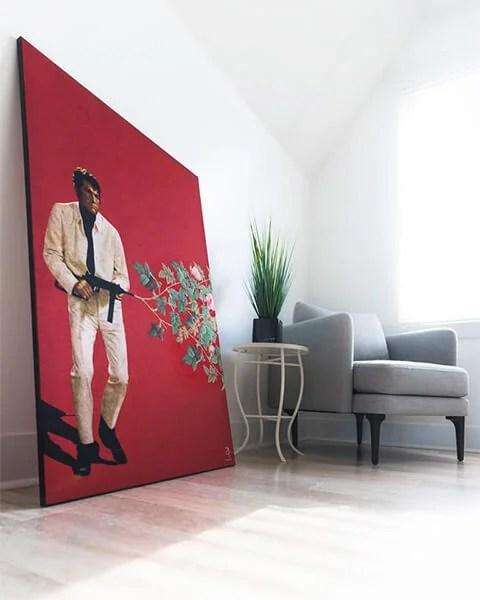 Big Dean Martin surreal Wall Decor Home Projects DIY Interior Design