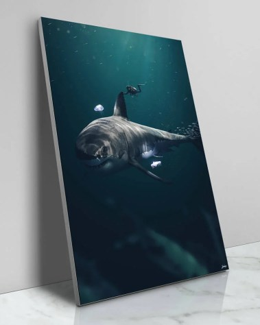 Large Surreal Mystic Megladon Shark Portrait Animal Wildlife Surreal Photography by Zenja Gammer