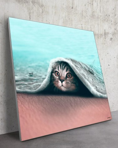 Large Surreal Cat Illusion African Animal Wildlife Surreal Photography by Julien Tabet