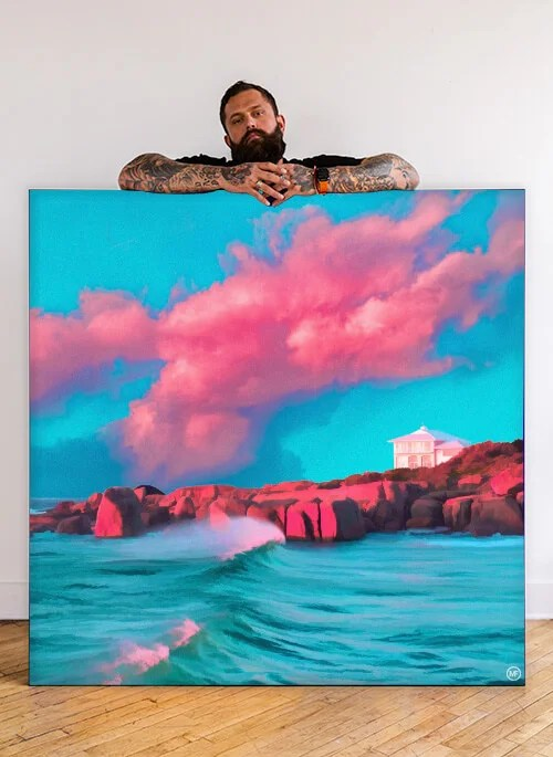 Extra Large Surreal Digital Illustration Colorful Artwork Paresthexia