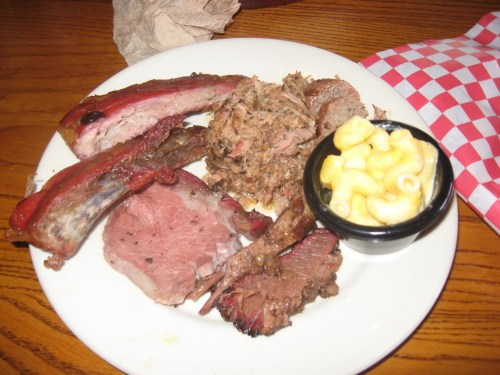 A sampling of meats