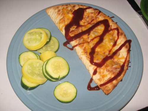 Charcoal Cheese and Onion Quesadillas with Draper's BBQ Sauce