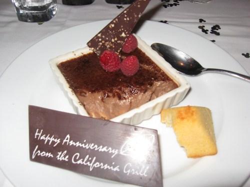 Tanzanian chocolate crème brûlée from California Grill