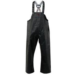 Men's black workwear Double Bib Pant