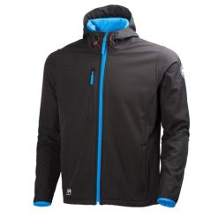 Men's black softshell workwear Jacket