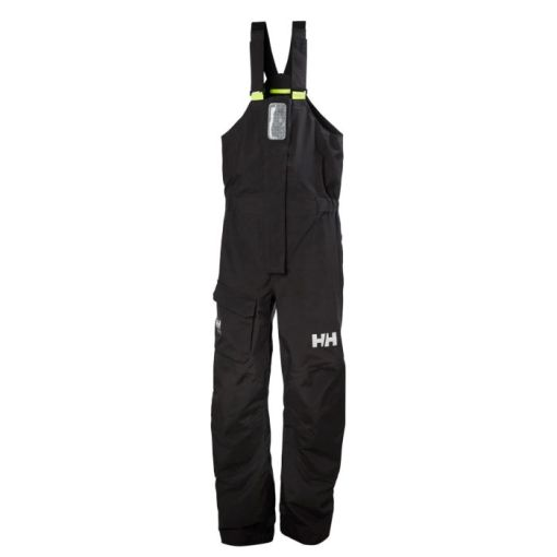 men's black high-waisted sailing trousers.