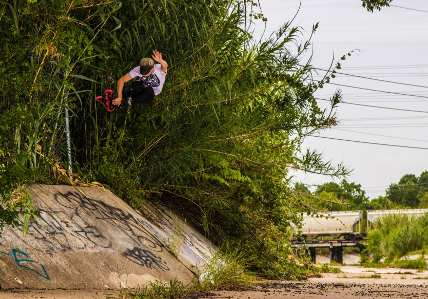 Mick Casals lacing an air on the home avenue ditch. Photo by Joseph Gammill