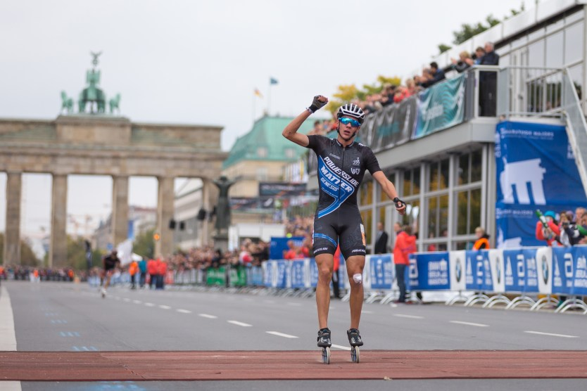 Bart wins the Berlin Marathon for a fifth straight year. Photo by Stefan Beyer