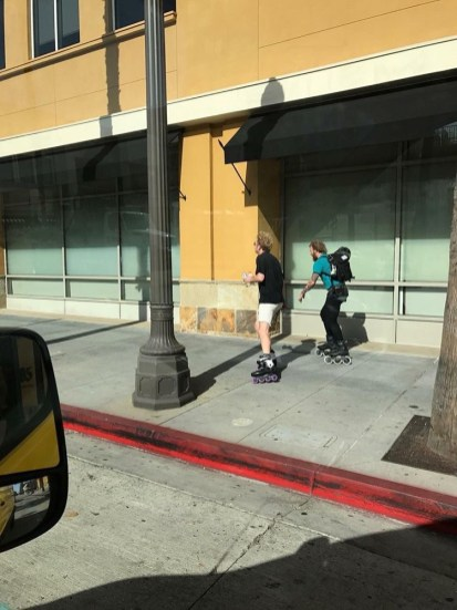 Caleb and Al Romero skating in LA