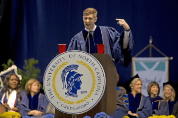 greensboro.com: Joey Cheek Addresses Largest UNCG Graduating Class