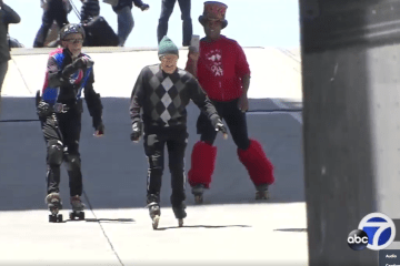sfist.com: 85-Year-Old Rollerblading Daredevil Conquers California Street Hill