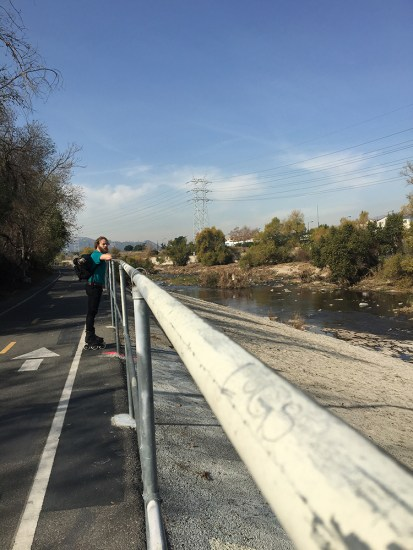 On the trail along the LA river.
