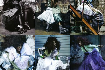 refinery29.com: Liya Kebede Does Couture On Wheels For Elle Italy